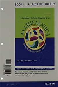 A Problem Solving Approach to Mathematics for Elementary Teachers, Books a la Carte Edition Plus MyMathLab -- Access Card Package (11th Edition) download epub